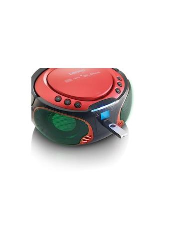 Lenco Radio »Portable Radio/CD-Player SCD-550 Rot«, (CD-Bluetooth FM-Tuner ) kaufen