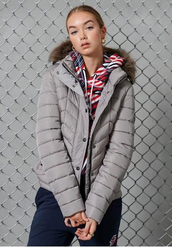 Superdry Winterjacke »LUXE FUJI PADDED JACKET«, kurze Steppjacke mit glänzender Optik kaufen