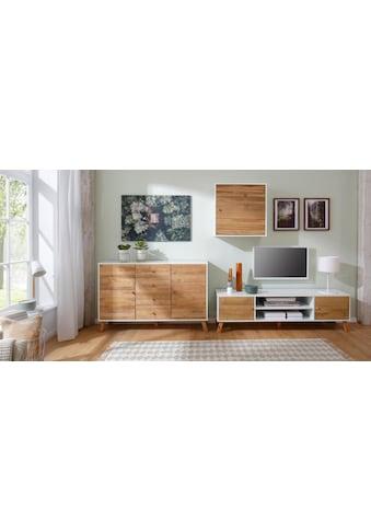 Home affaire Hängeschrank »Rondo«, mit Holztür und einem Einlegeboden, aus Massivholz, Breite 65 cm kaufen
