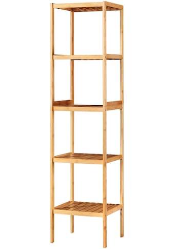 WELLTIME Badregal »Bambus«, 34 cm breit, 5 Ablagen acheter