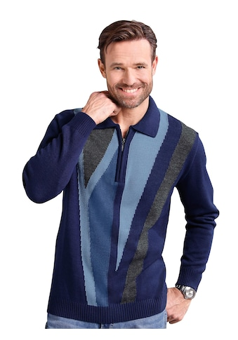 Classic Basics Pullover mit kontrastreichem Strickmuster kaufen