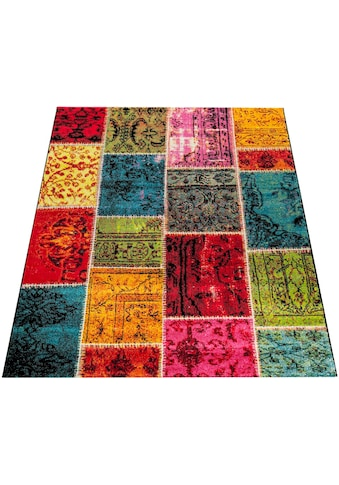 Paco Home Teppich »Canvas 790«, rechteckig, 16 mm Höhe, sehr robust, schmutzabweisend,... kaufen
