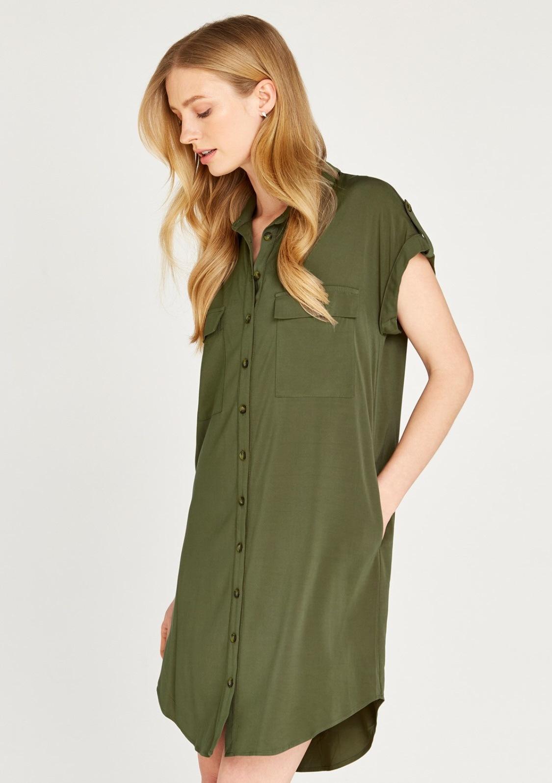 Image of Apricot Hemdblusenkleid »Sleeveless Utility Shirt Dress«