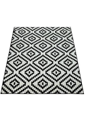 Paco Home Teppich »Stella 400«, rechteckig, 17 mm Höhe, Kurzflor, Rauten Design, Wohnzimmer kaufen