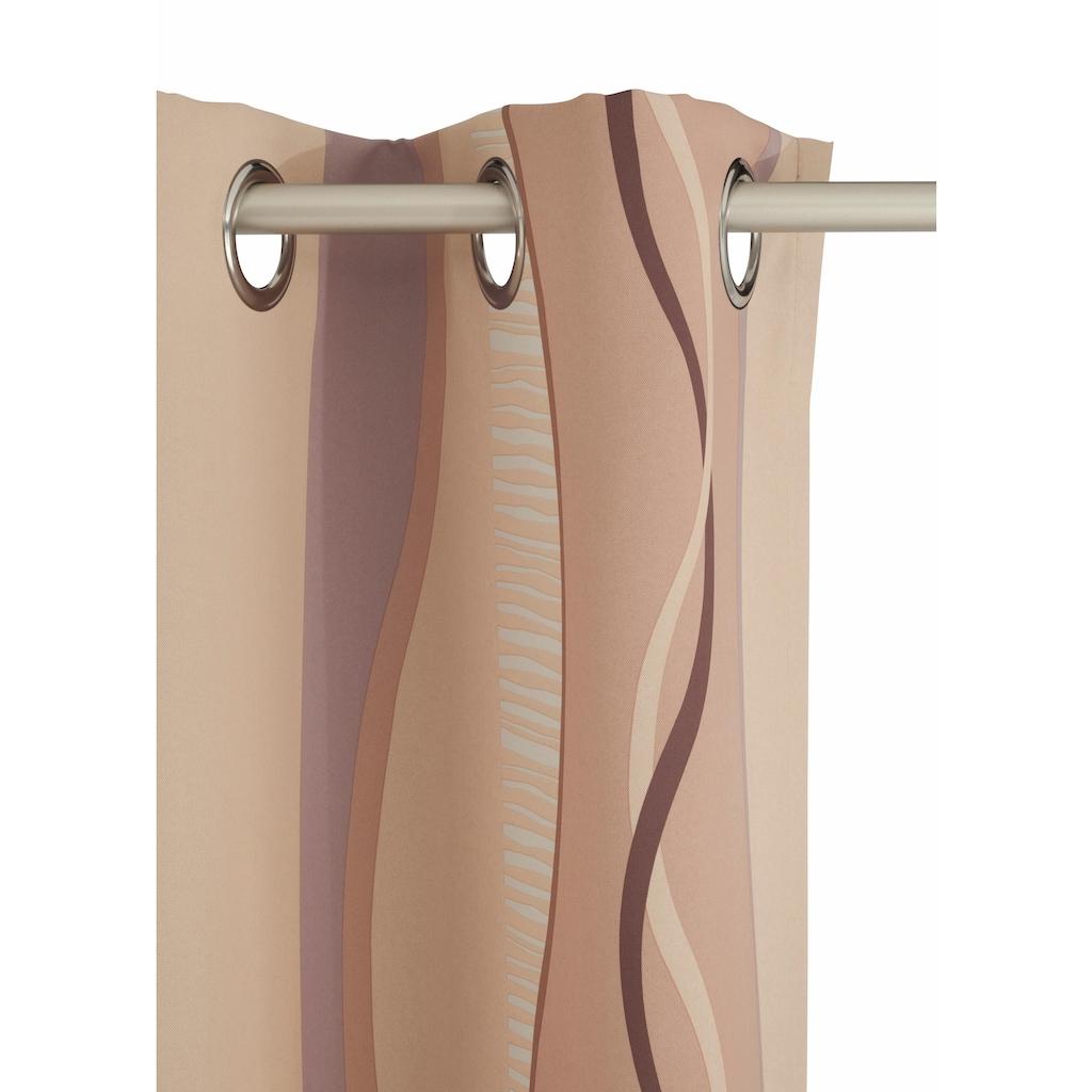 my home Verdunkelungsvorhang »Tinos«, Vorhang, Fertiggardine, Gardine, Breite 270 cm = 1 Stück --- Breite 130 cm = 2 Stück (mit Verbindungsnaht), verdunkelnd