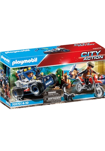 Playmobil® Konstruktions-Spielset »Polizei-Geländewagen: Verfolgung des Schatzräubers (70570), City Action«, Made in Germany kaufen