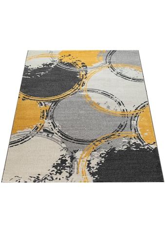 Paco Home Teppich »Pattern 129«, rechteckig, 18 mm Höhe, Kurzflor, Wohnzimmer kaufen