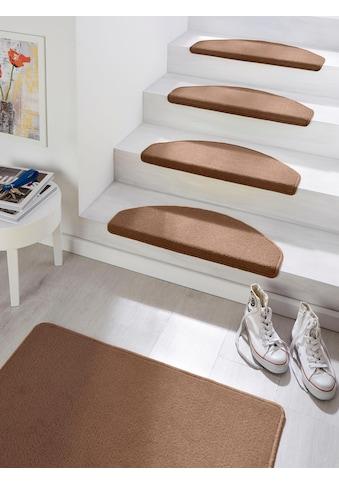 HANSE Home Stufenmatte »Fancy«, halbrund, 7 mm Höhe, grosse Farbauswahl, 15 Stück in einem Set kaufen