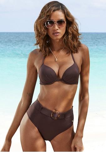 s.Oliver Beachwear Highwaist-Bikini-Hose »Rome«, mit abnehmbarem Gürtel kaufen