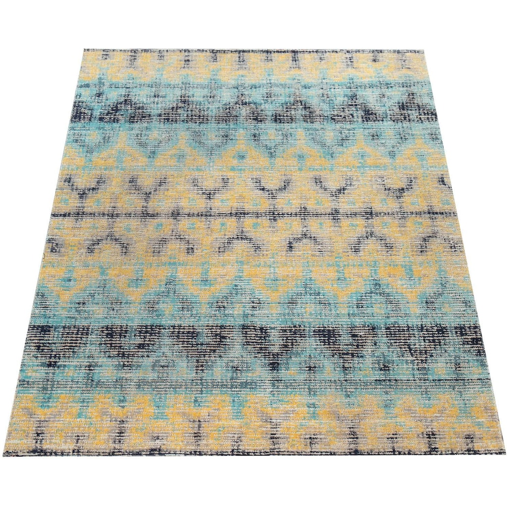 Paco Home Teppich »Artigo 417«, rechteckig, 4 mm Höhe, Vintage Design, In- und Outdoor geeignet, Wohnzimmer