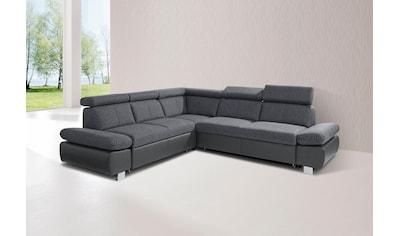 exxpo - sofa fashion Ecksofa, inklusive Rückenverstellung und Armteilverstellung,... kaufen