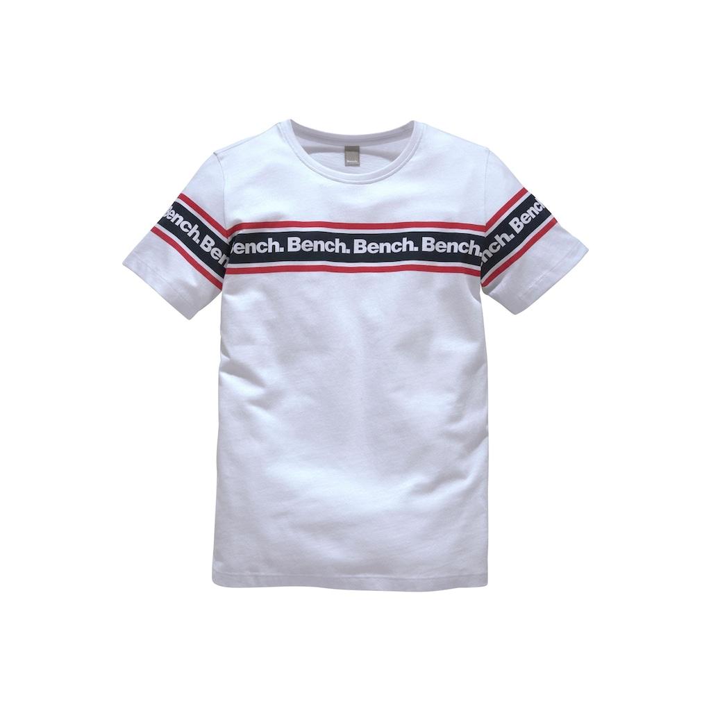 Bench. T-Shirt, mit Druck in Streifenoptik