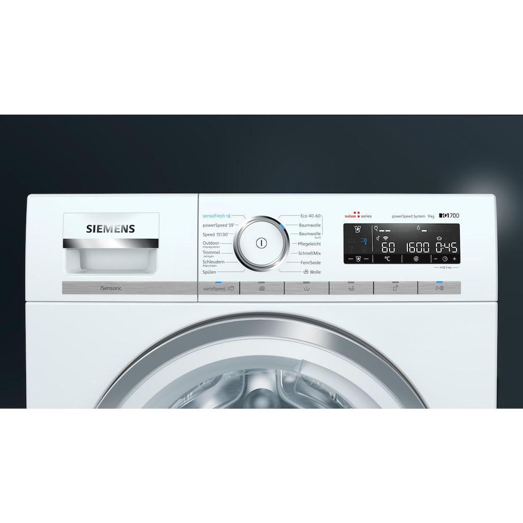 SIEMENS Waschmaschine, WAXH2L40CH A+++, 9 kg, 1600 U/min