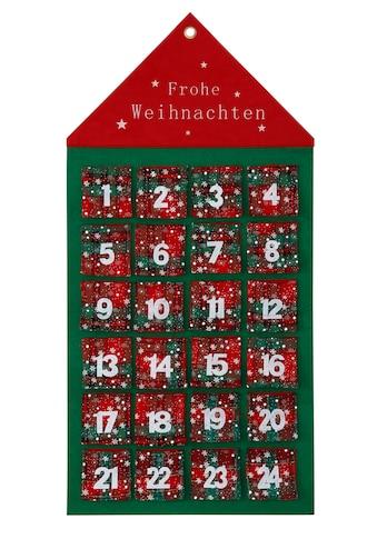 my home befüllbarer Adventskalender »Haus«, zum Hängen aus Filz, 46 x 92 cm kaufen