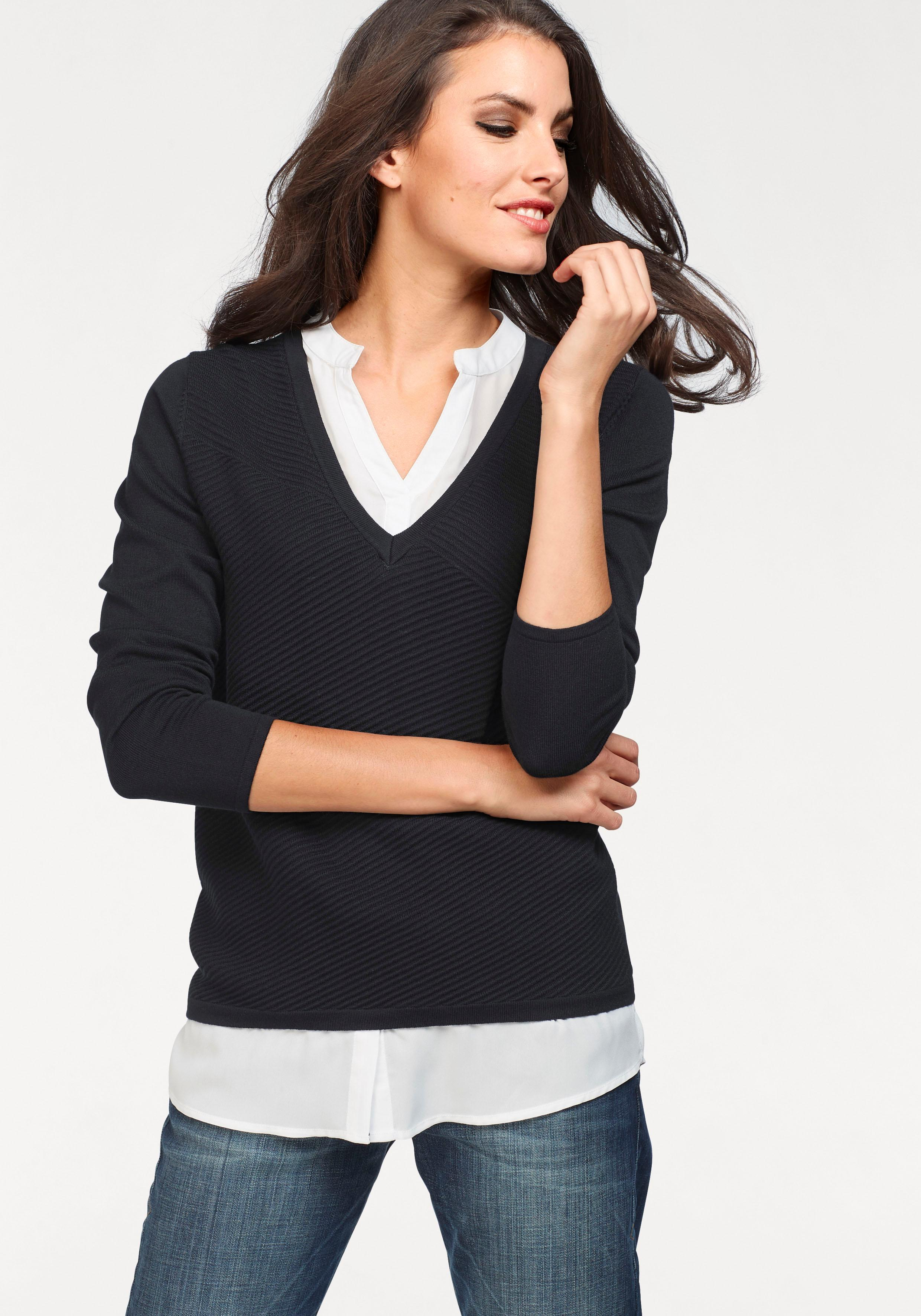 Image of Aniston SELECTED 2-in-1-Pullover