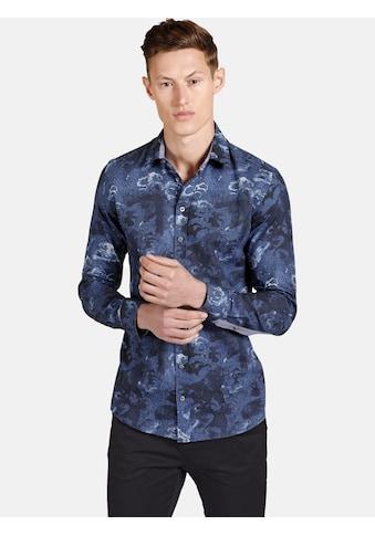 SHIRTMASTER Langarmhemd »theblueeagle«, Baumwollhemd mit Paisleymuster kaufen