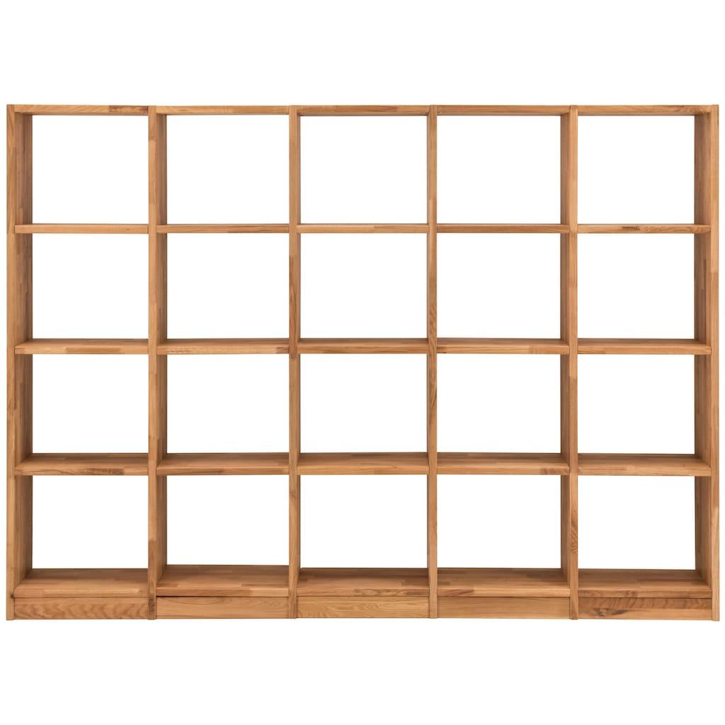 Premium collection by Home affaire Regalelement »Ecko«, aus schönem massivem Wildeichenholz, Breite 225 cm